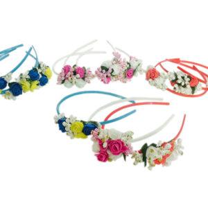 Loops n knots Set of 12 Assorted Tiara/Crown/Hairband For Girls & Women-Hair Accessories