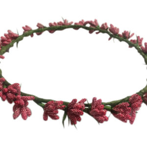 Loops n knots Princess Collection Red Tiara/Crown/Headband For Girls & Women -Hair Accessory For Birthday ,Party & Wedding