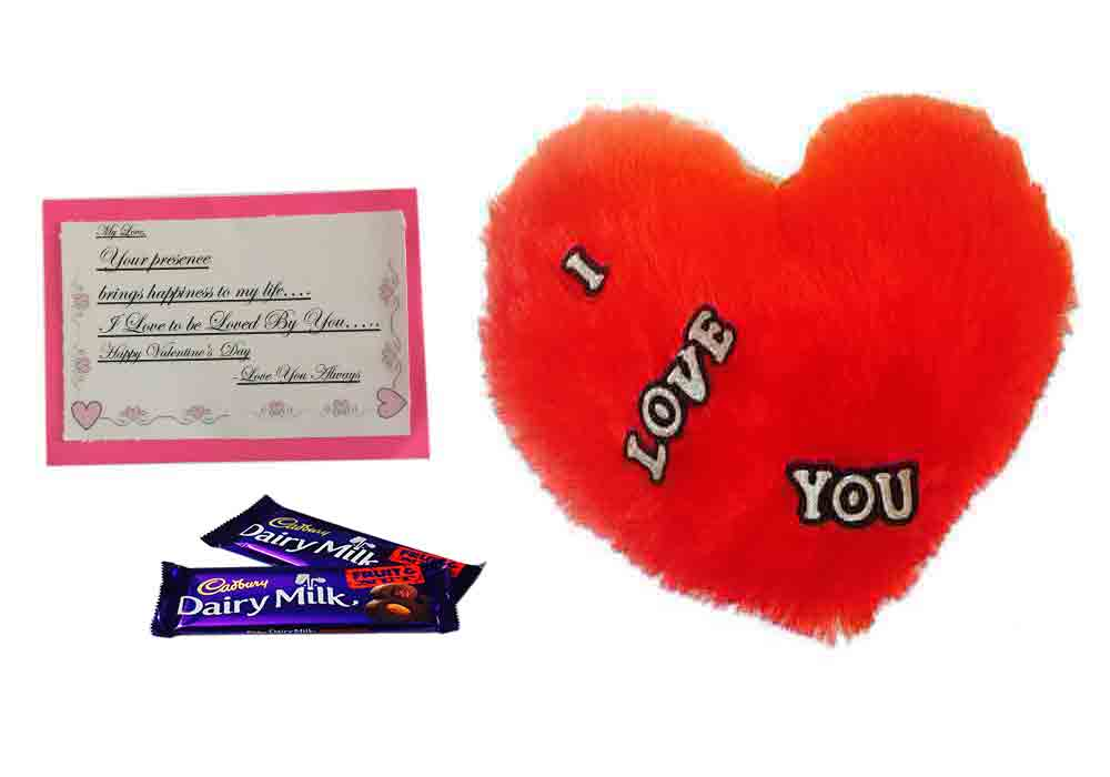 Loops N Knots Valentine S Day Gift I Love You Red Heart Cushion Fruit Nut Chocolate With Card Valentine Day Gift Box For Boyfriend Girlfriend Gift For Valentine Gift For Him Gift For Her Loopsnknots